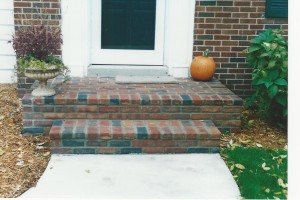 BRICK AND MORTAR (MASONRY) PORCH AND STEPS
