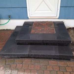 PRECAST BLOCK PORCH AND STEPS