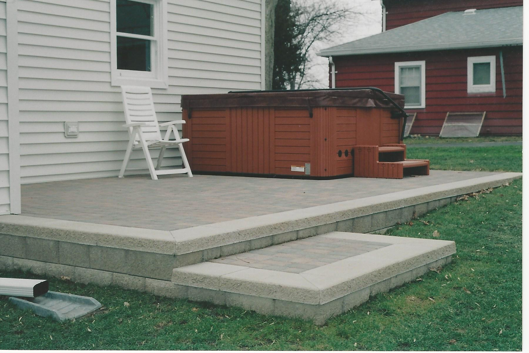 Delightful PRECAST BLOCK PATIO STEP